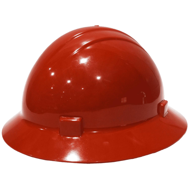 4pt Ratchet Full Brim Americana Hard Hat