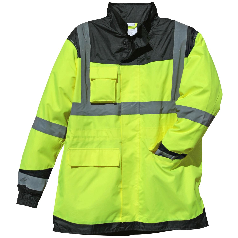 7f6259912 Hi-Vis Lime Black Waterproof Rain Jacket