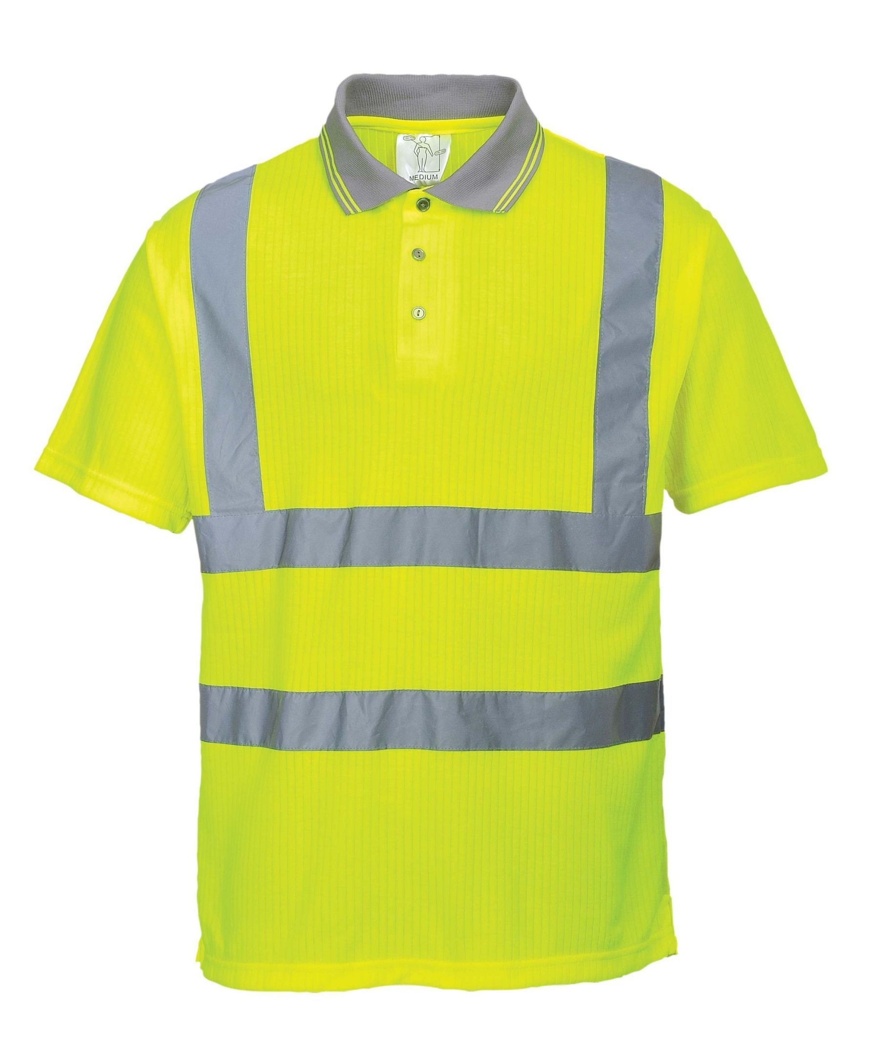 Port West Hi Vis Short Sleeve Polo Shirt