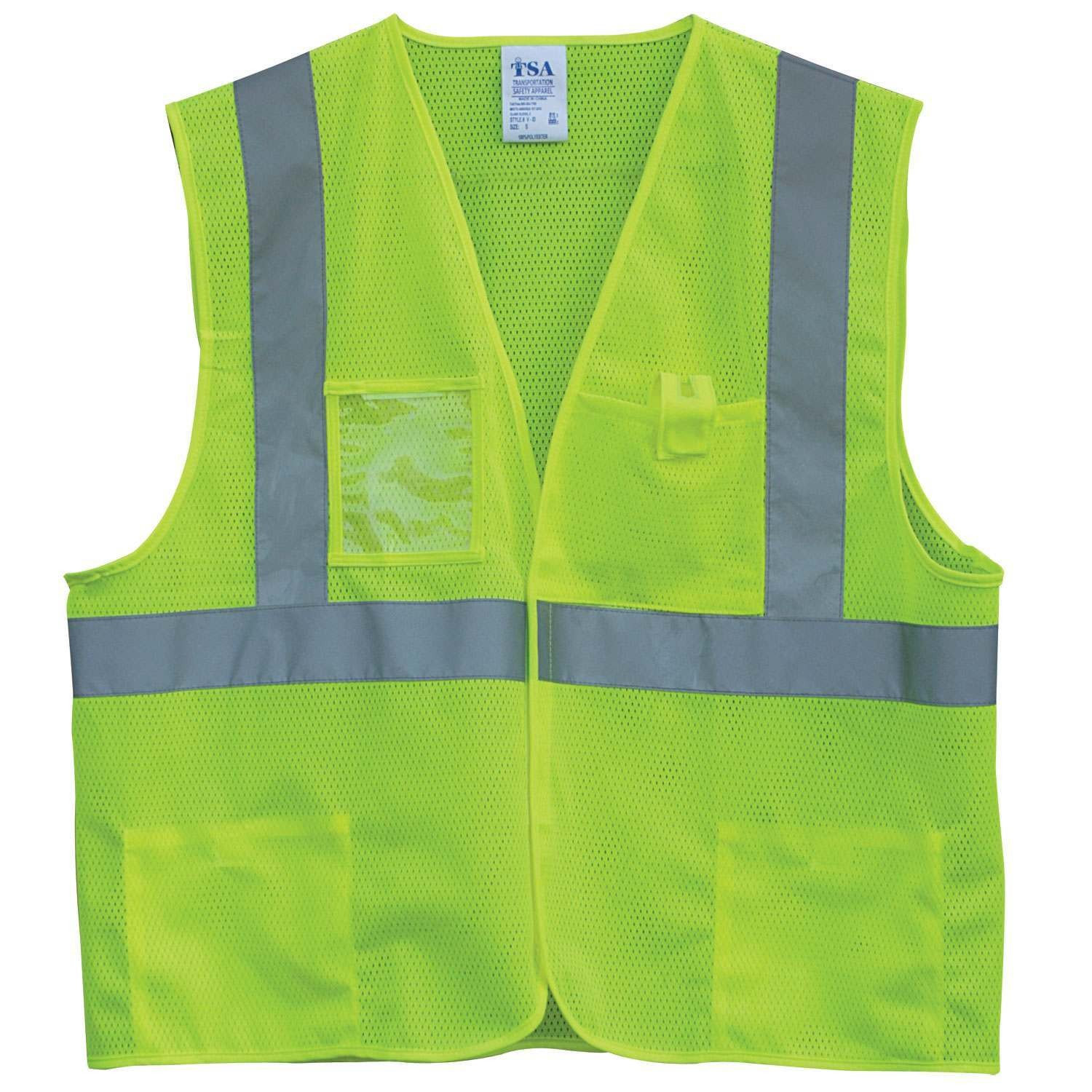 Hi Vis Two Tone Safety Vest With X On The Back Reflective Waistcoat Breathable Mesh Vest Orders Are Welcome. Workplace Safety Supplies Security & Protection