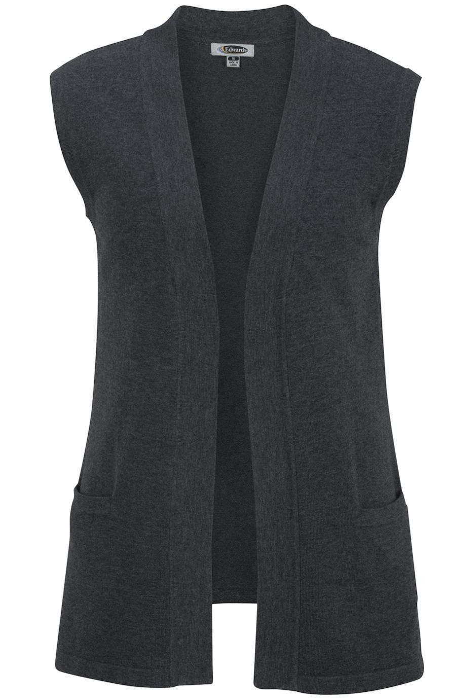 EDWARDS LADIES' OPEN CARDIGAN SWEATER VEST - New Products