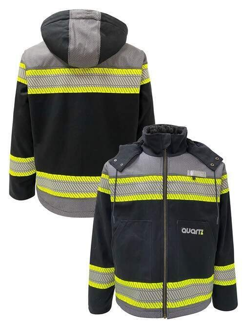 Enhanced Visibility Black Heavy Duty Canvas Sherpa Lined Jacket