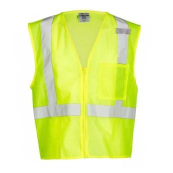Single Pocket Zipper Mesh Vest