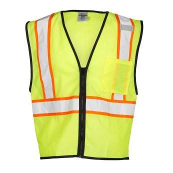 Single Pocket Contrasting Mesh Vest