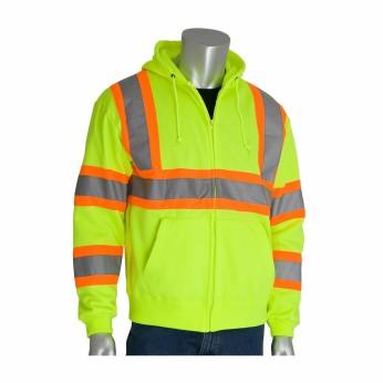 ANSI 3 Hooded Sweatshirt with Two-Tone Reflective