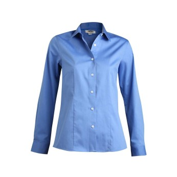 EDWARDS LADIES' OXFORD NON-IRON LONG SLEEVE BLOUSE