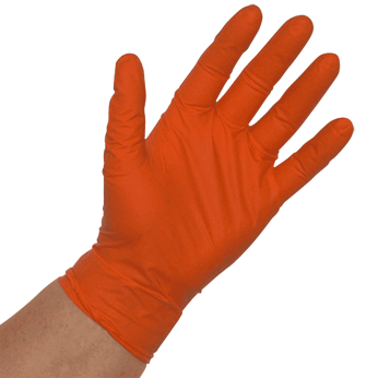 Orange Lightning Disposable Nitrile Gloves