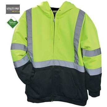 High Visibility Hooded Soft Shell Class 3