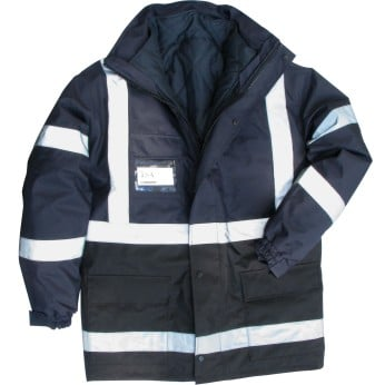 NAVY/BLACK 5 IN 1 SYSTEMS JACKET
