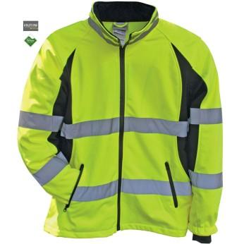 Women's Hi-Vis Full Zip Soft Shell Jacket