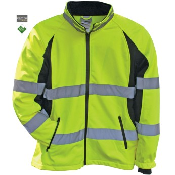 Women's Hi-Vis Full Zip Soft Shell Jacket