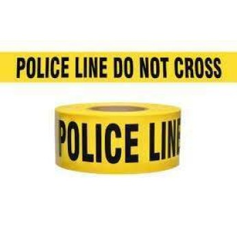 3 MIL BARRICADE TAPE: POLICE LINE DO NOT CROSS