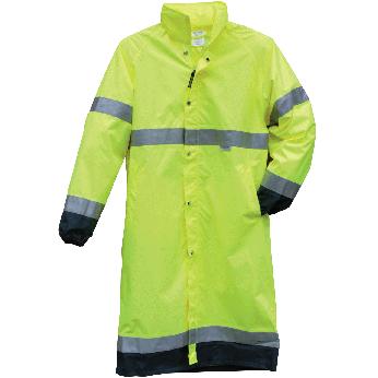 Hi-Vis Premium Breathable Long Rain Jacket