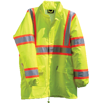 Hi-Vis ANSI 3 DOT Breathable & Stretchable Rain Jacket