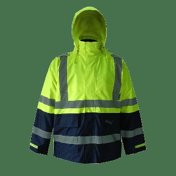 Journeyman 300D Trilobal Rip Stop Rain Jacket-Lime/Navy