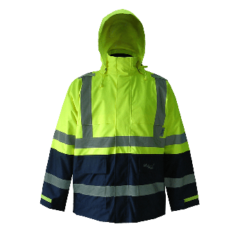 Journeyman 300D Trilobal Rip Stop Rain Jacket-Lime/Navy