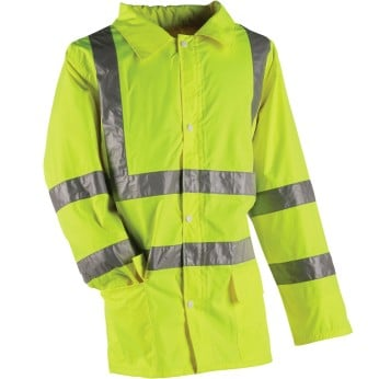 Hi-Vis Reflective Safety Rain Jacket