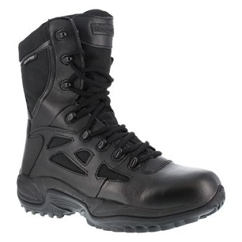 "Men's Reebok Stealth 8"" Waterproof  Boot with Side Zipper"