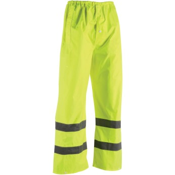 Hi-Vis Reflective Safety Rain Pant-Lime