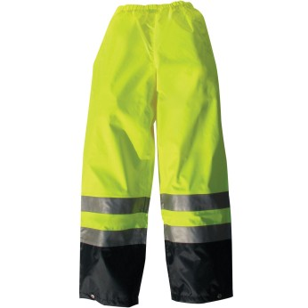 Hi-Vis Breathable Rain Pant with 3M Film-LIME
