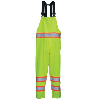 Hi-Vis ANSI Class 3 DOT Breathable & Stretchable Rain Bibs