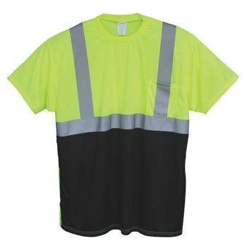 HI-VIS COLOR BLOCK SAFETY T-SHIRT