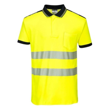 PW3 Hi-Vis Short Sleeve Polo Shirt