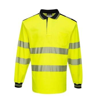 PW3 Hi-Vis Long Sleeve Polo Shirt