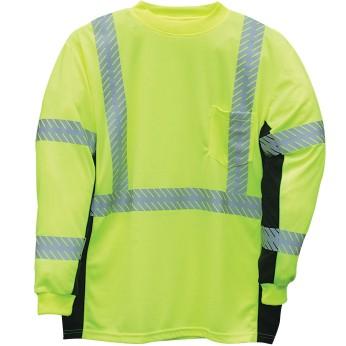 ML Kishigo Black Series ANSI 3 Hi-Vis Long Sleeve Safety Shirt