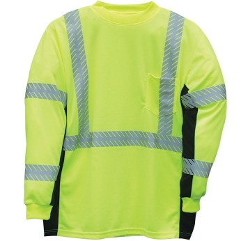 ML Kishigo Black Series ANSI 3 Hi-Vis Long Sleeve Safety Shirt