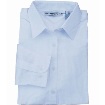 EDWARDS LADIES' PINPOINT OXFORD SHIRT - LONG SLEEVE