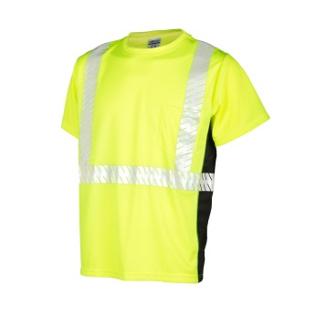 ML Kishigo Black Series ANSI  Hi-Vis Short Sleeve Safety Shirt