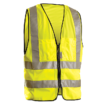 ANSI 2 SURVEYOR'S SAFETY VEST WITH ZIPPER CLOSURE