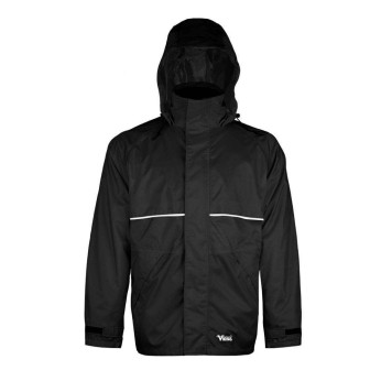 Journeyman Heavy Duty 420D Rip Stop Rain Jacket-Black